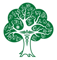 medical tree vector image