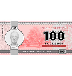 Money banknotes with portrait of vector
