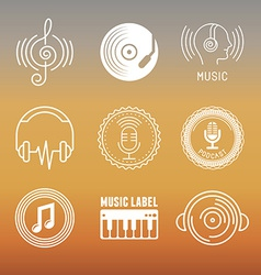 Musical logos and icons vector