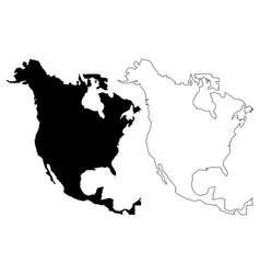 north america map vector image