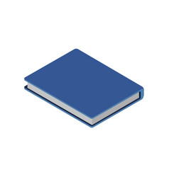 notebook or diary isometric 3d icon vector image