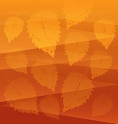 Orange leaves background vector