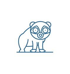 panda line icon concept panda flat symbol vector image