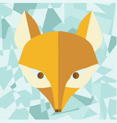 Paper foxes turquoise poster vector