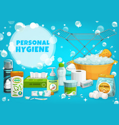 Personal hygiene body care products vector