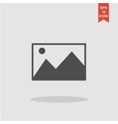 Photo picture web icon in flat style vector