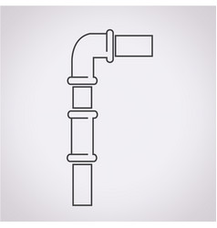 pipes icon vector image