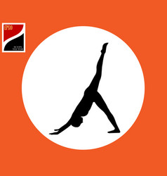 Pose of asana yoga vector