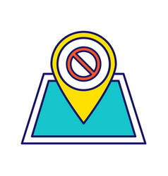 Protest location color icon vector