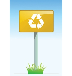 Recycling road sign vector