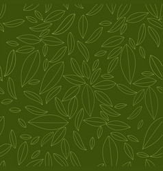 seamless geometric pattern outline of leaves vector image