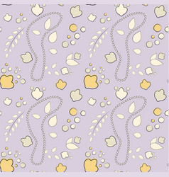 seamless pattern of elements drawn vector image