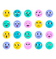 Set of emoticons stickers emoji vector