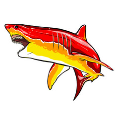 Shark red angry graphics art vector