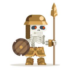Skeleton undead guardian ancient dead resurrected vector