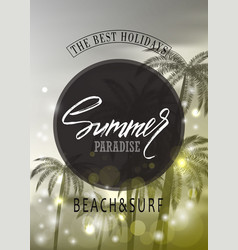 summer paradisetropical background with palms vector image