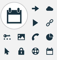 User icons set with lifeguard privacy forward vector