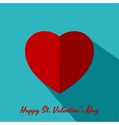 Valentine greeting card with big heart vector