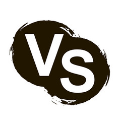 versus letters or vs logo isolated on black splash vector image