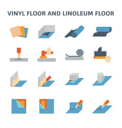 Vinyl floor icon vector
