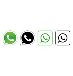 whatsapp set social media logos vector image