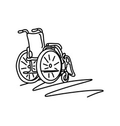 Wheelchair with copyspace sketch vector