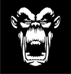 White Gorilla Face vector