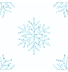 Blue snowflake seamless background vector image