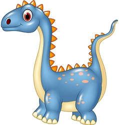 Cartoon cute dinosaur isolated on white background vector image vector image