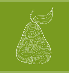 doodle hand drawn pear pattern sketched abstract vector image