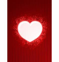 floral red heart frame vector image