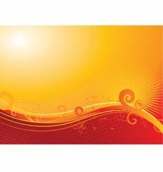 sunny floral background vector image