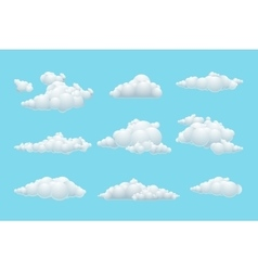 cartoon cloud set vector image