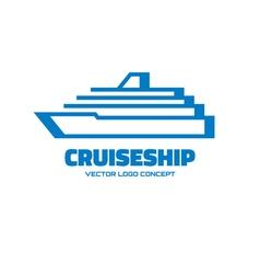 Cruise ship - logo concept vector