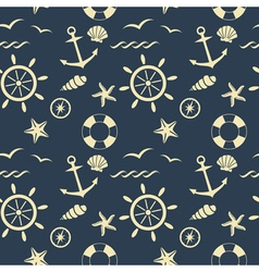 nautical seamless pattern blue vector image