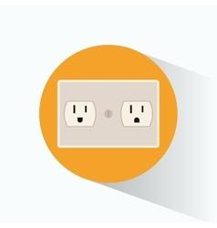 plug energy electrical circle shadow vector image
