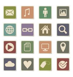 social media icon set vector image vector image