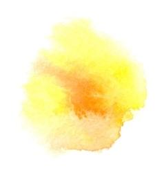 Watercolor orange background vector