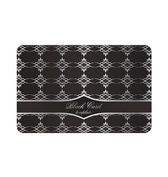 Black Decorative Card with Silver Pattern vector image