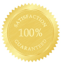 gold guarantee stamp vector image vector image