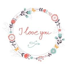 Beautiful romantic card vector image vector image