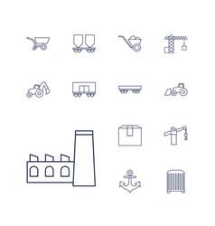 13 heavy icons vector