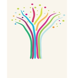 Abstract tree Retro card vector image