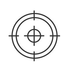 Aim target focus goal linear icon vector