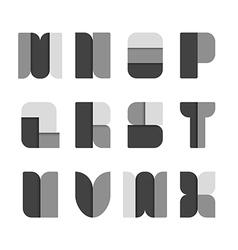 Alphabet set paper black style vector image