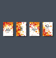 autumn falling leaves banner set nature vector image