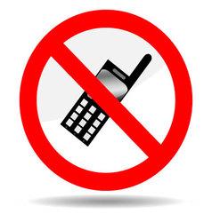 Ban telephone vector