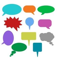 Blank empty speech bubbles icons vector image