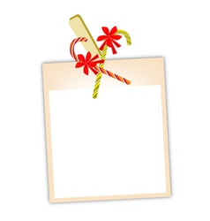 Blank Photos with Candy Canes vector