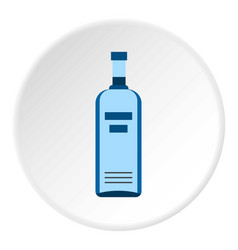 Bottle of vodka icon circle vector